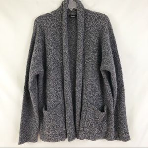 Eileen Fisher Open Gray Cardigan Wool Cashmere L
